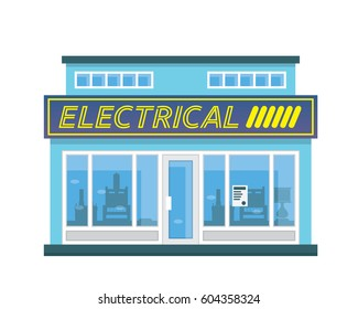 Modern Flat Commercial Business Building - Electrical Shop