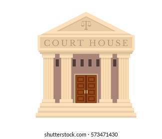 Modern Flat Commercial Government Office Building, Suitable for Diagrams, Infographics, Illustration, And Other Graphic Related Assets - Court House