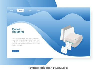 Modern Flat design and Business online shopping concepts for Social media and Networks, easy to use and highly customizable. Modern vector illustration concept, isolated with blue and white background