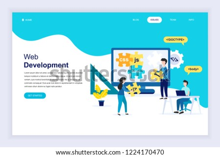 modern flat design concept web development stock vector royalty