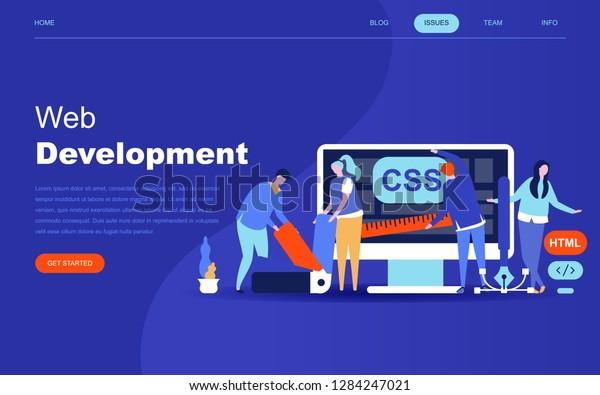 Modern Flat Design Concept Web Development Stock Vector Royalty Free 1284247021