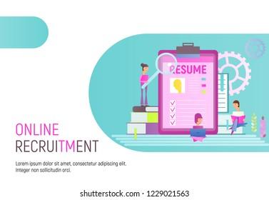 Young Recruitment Job Stock Vectors, Images & Vector Art