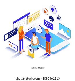 Modern flat design isometric illustration of Blockchain Platform. Can be used for website and mobile website or Landing page. Easy to edit and customize. Vector illustration