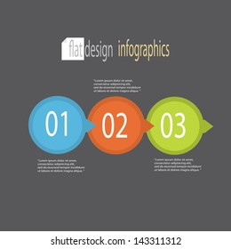 Modern flat Design template / can be used for infographics / numbered banners / horizontal cutout lines / graphic or website layout vector