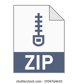 Modern flat design of ZIP archive file icon for web