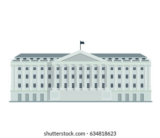 Modern Flat Famous Government Building, Suitable for Diagrams, Infographics, Illustration, And Other Graphic Related Assets - Washington Department Of Treasury Building