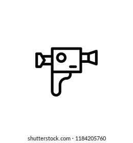 Modern flat handgun icon