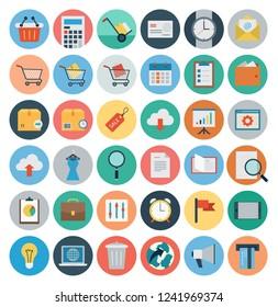 Modern flat icons set. Online Shopping.