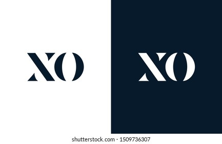 Modern Flat letter XO logo. This logo icon incorporate with two abstract shape in creative way.