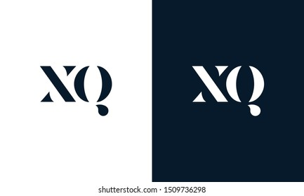 Modern Flat letter XQ logo. This logo icon incorporate with two abstract shape in creative way.