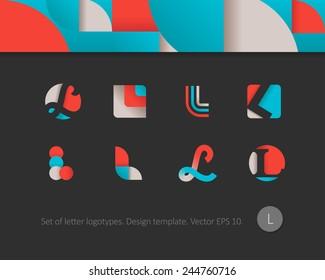Modern flat logotypes. Letter L icon.