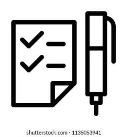 Modern flat pencil page icon