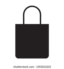 Modern and flat silhoutte tote bag vector icon and vector illustration cna be used for mobile or website apps EPS 10
