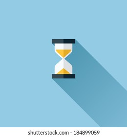 Modern flat vector icon of hourglasses