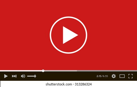 Modern flat video player interface. Vector illustration.