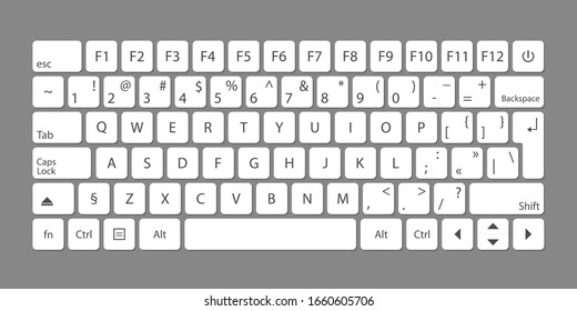Modern flat web template with keyboard template on gray background. Vector illustration
