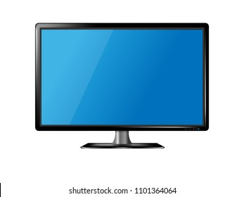 Modern flat wide screen lcd, Ultra plasma tv full high-definition,Computer monitor blank display isolated on white background