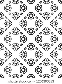 Modern floral black white vector pattern decoretive design in elegant traditional sytle for many creative ideas