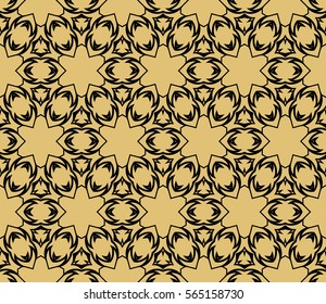 modern floral pattern of geometric ornament. Seamless vector illustration. for interior design, printing, wallpaper.
