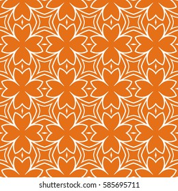 modern floral seamless pattern background. Luxury texture for wallpaper, invitation. Vector illustration. orange, white color