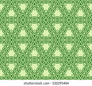 modern floral seamless pattern. vector. green color. for design invitation, interior wallpaper, cover card
