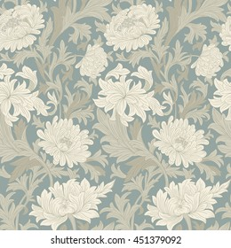 Modern floral seamless pattern for your design.   Print on paper or textile.  Vector illustration.  Background.