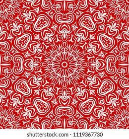Modern floral vector ornaments. Decorative flower mandala. vector meditation illustration