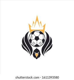 Modern Flying Eagle Soccer Logo Illustration In Isolated White Background vektor