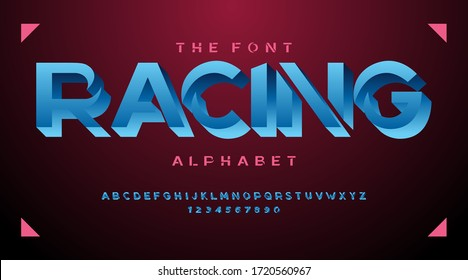 Modern fonts and alphabet, luxury expensive sport minimal classic urban futuristic typeface typo typography and number, uppercase lowercase. Vector illustration.