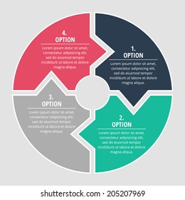Modern four option template for your business presentation or project