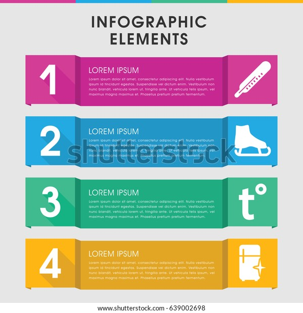 Modern Freeze Infographic Template Infographic Design Stock