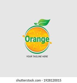 Modern fresh orange logo vector illustration. Fresh orange slice logo designs. Food company icon. Concept of juice drinks, fruits, vegetable trade.