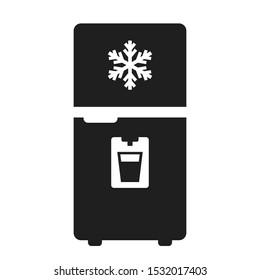 Modern fridge vector icon on white background