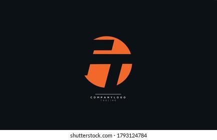 Modern FT Letter Business Logo Design Alphabet Icon Vector Symbol