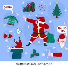 Modern Funny Christmas Santa Claus Dab