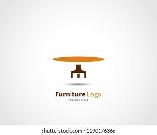 modern furniture logo design template vector stock vector royalty