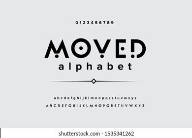Modern futuristic alphabet. Digital electronic technology type face. Music creative font vector