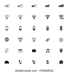 Modern gadget web icons collection , vector