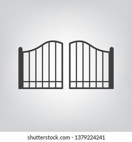 modern gate icon- vector illustration
