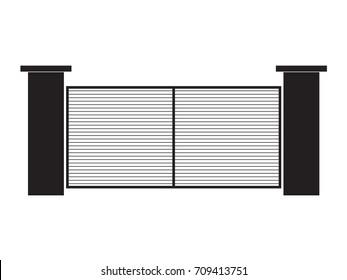 modern gate- vector illustration