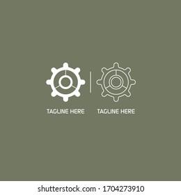modern gear wheel icon for your logo