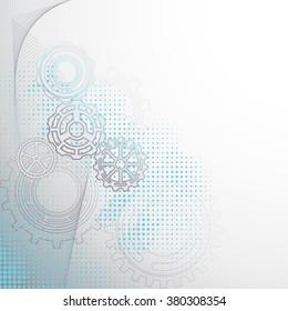 Modern gears background