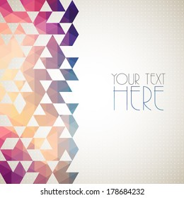 Modern geometric abstract background.