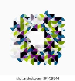 Modern geometric abstract background, circles on white. Vector template background for workflow layout, diagram, number options or web design