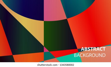 modern geometric abstract background - Vector