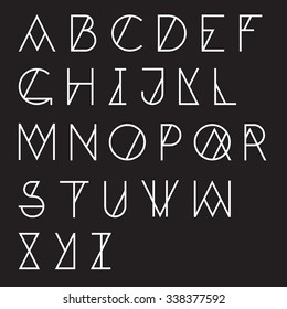 Modern geometric alphabet