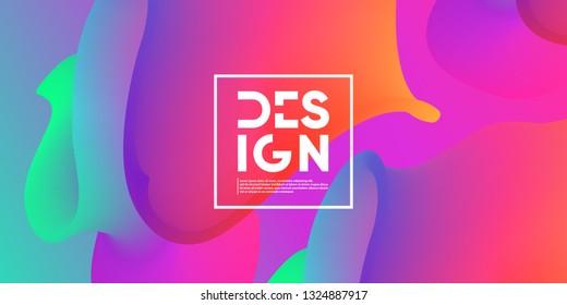Modern geometric background. Fluid shapes composition. Eps10 vector.