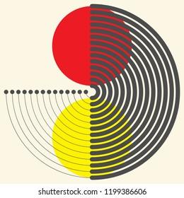 Modern Geometric Background. Vector Creative Logo. Modern Graphic Design