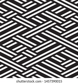 Modern geometric background. Vector seamless texture. A repeating pattern with interwoven lines.
