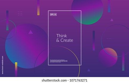 Modern geometric background. Web page template. Simple shapes composition. Eps10 vector.